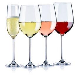 Weingläser für die unterschiedlichen Weine